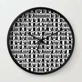 Black and white mosaic mesh Wall Clock