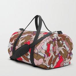 Chocolate Valentine Red Human Slugs Duffle Bag