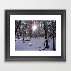 LIGHTSHINETHROUGH Framed Art Print