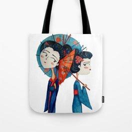 Blue Geishas Tote Bag