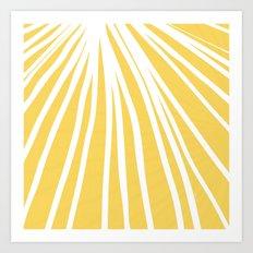 Dandelion in Yellow by Friztin Art Print