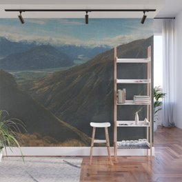 on top of mountain and beneath the stars Wall Mural