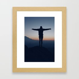 Open Arms and Open Heart Framed Art Print