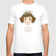 AMELIE POULAIN White MEDIUM Mens Fitted Tee