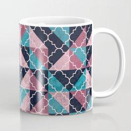 Arabesque Mosaic - pink and blue Coffee Mug