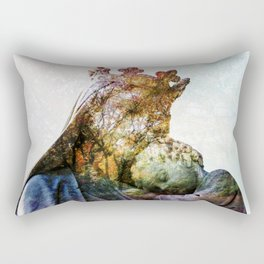 Statue / Double Exposure / 2 Rectangular Pillow