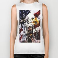 patriotic Biker Tanks featuring PATRIOTIC TIMES by PERRY DAEZIOUH