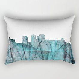 Birmingham, Alabama Skyline - Turquoise Storm Rectangular Pillow