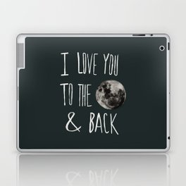 I Love You to the Moon Laptop & iPad Skin