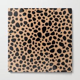 Wild leopard animal pattern  Metal Print