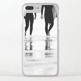 Catch a wave III Clear iPhone Case