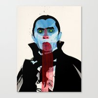 the vampire diaries Canvas Prints featuring Vampire by Alvaro Tapia Hidalgo