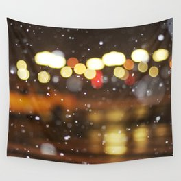 Snow Taxi Wall Tapestry