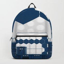 Tardis Shadow Blue Box Backpack