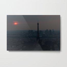 Unedited Paris Sunset Metal Print