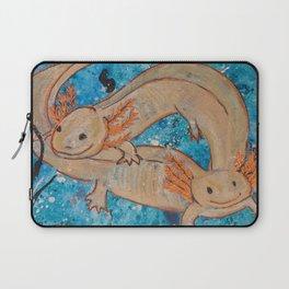 Axolotls  Mexican Salamander Walking Fish Laptop Sleeve