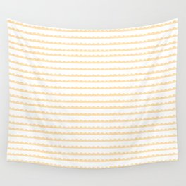Yellow Scallop Wall Tapestry