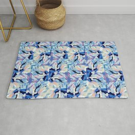 Bibbity Bobbity Blue (Abstract Painting) Rug