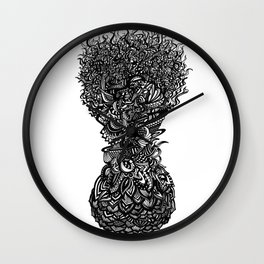 Fruitful Flowers Wall Clock