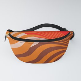 Beyond The Fog - Red & Brown Fanny Pack