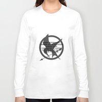 narnia Long Sleeve T-shirts featuring Hunger Games by Rothko