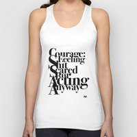 courage Tank Tops featuring Courage by blugge