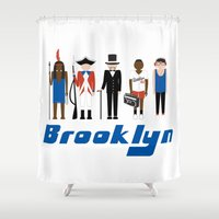 brooklyn Shower Curtains featuring Brooklyn  by harlembrooklyn