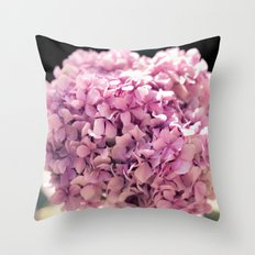 The beautiful hydrangea Throw Pillow