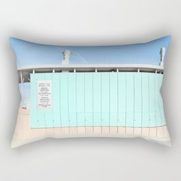 Mood In Blue - House and Architecture Rectangular Pillow