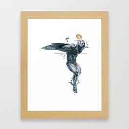 Glitter Hover Framed Art Print