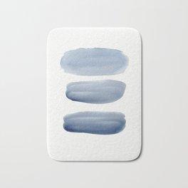 Watercolor blue 1 Bath Mat