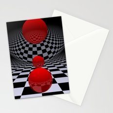 red-white-black -2- Stationery Cards
