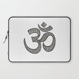 Hand-drawn pen and ink ornamental Om (aum) Laptop Sleeve