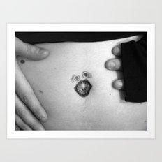 yelly-belly [black & white] Art Print