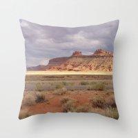 utah Throw Pillows featuring Expanse (Utah) by Danielle Hatfield