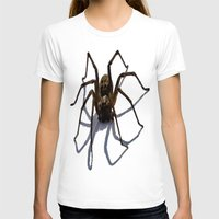 spider T-shirts featuring SPIDER by aztosaha