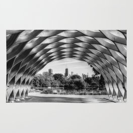 The Honeycomb - Lincoln Park B&W Rug