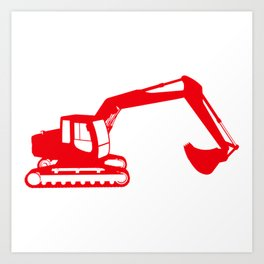 Construction red Art Print