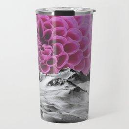 Ice Capped Dahlias Travel Mug