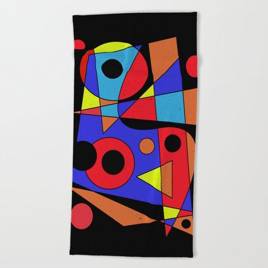 Abstract #104 Beach Towel