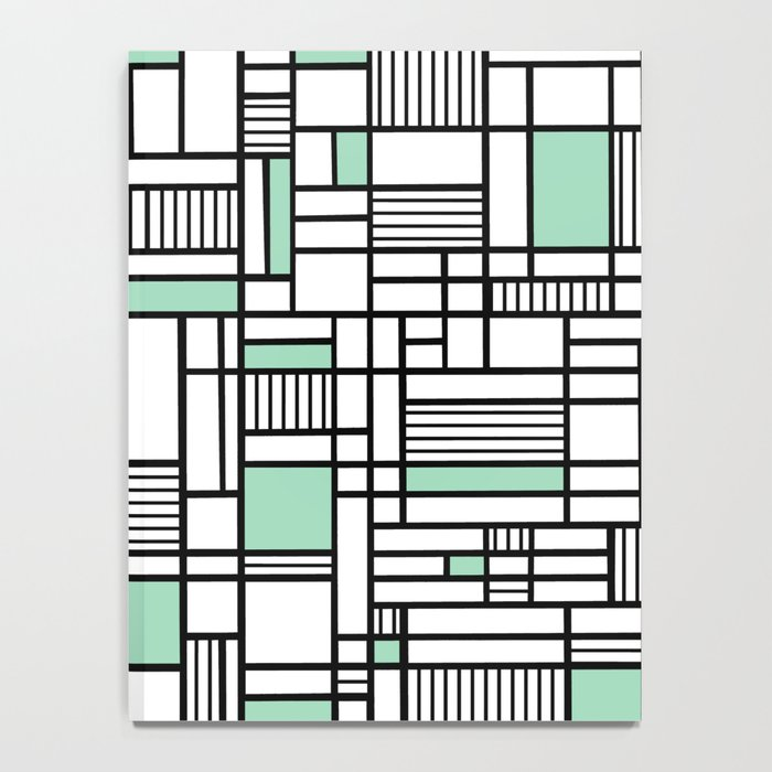 Map Lines Mint Notebook