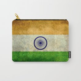 Flag of India - Retro Style Vintage version Carry-All Pouch
