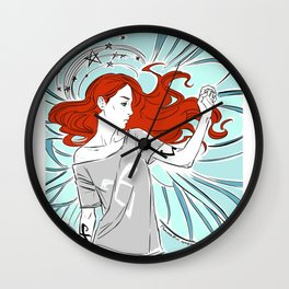 redhead fairy girl Wall Clock