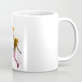 Young woman basketball player 04 in watercolor Coffee Mug