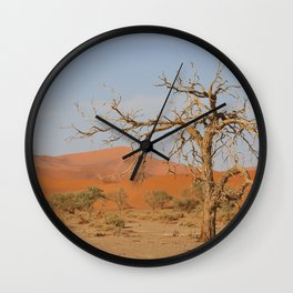 Namibia Desert with Sand Dunes Wall Clock