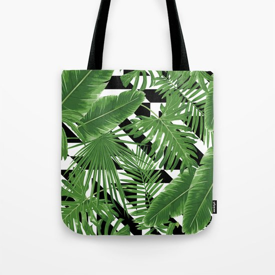 tropical geometric  Tote Bag