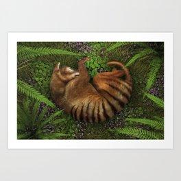Tasmanian Tiger Art Print