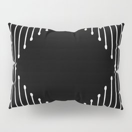 Geo / Black Pillow Sham