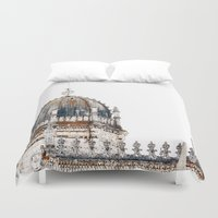 portugal Duvet Covers featuring  Jeronimos Monastery, Lisbon, Portugal  by Philippe Gerber