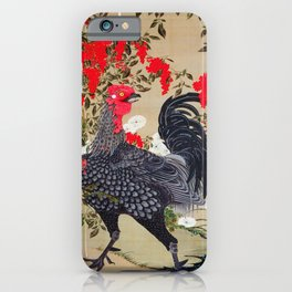 Ito Jakuchu - Heavenly bamboo and Rooster - Digital Remastered Edition iPhone Case
